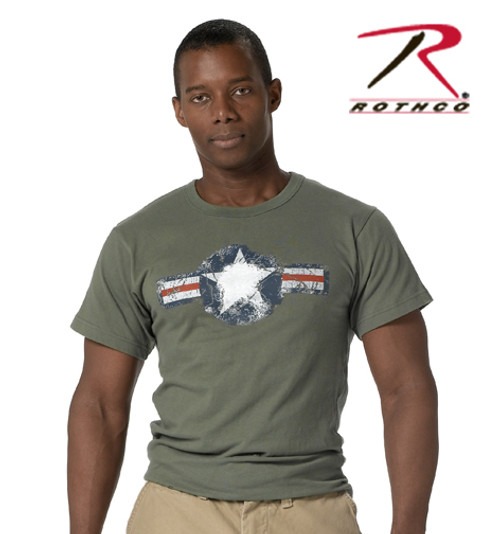 Vintage T-Shirt Army Air Corp - Olive Drab