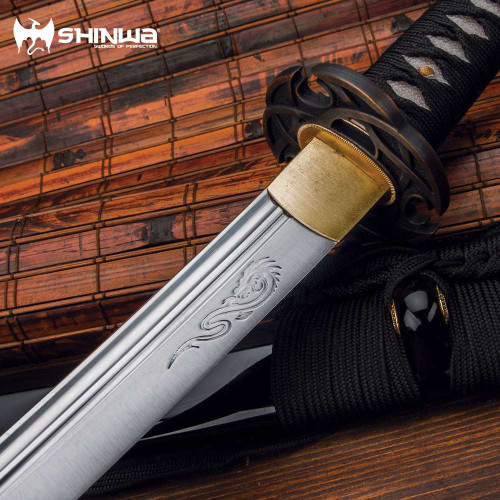 Shinwa Ebony Prince Hand-Forged Katana And Scabbard