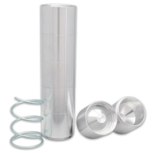 D-Sized Aluminum Cup Inserts With Springs - Discreet Concealment