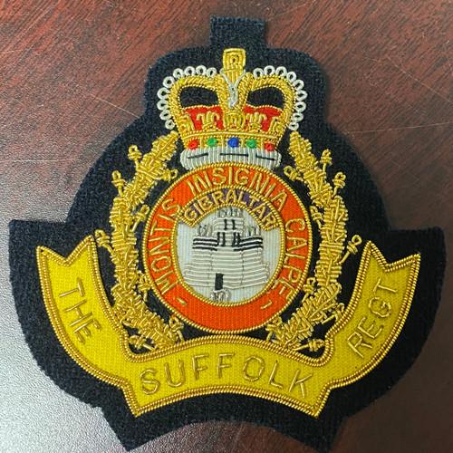 The Suffolk Regiment Queen's Crown Blazer Crest Patch