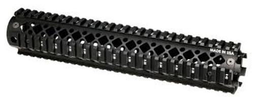 AR15 Rifle Length 2Pc Quad Rail Forend Black