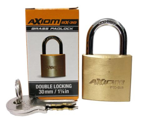 Axiom Brass 30MM Padlock