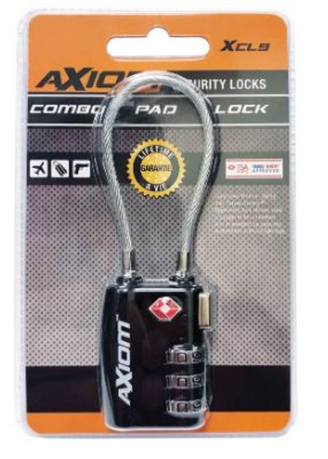Axiom Combination Cable Lock TSA Accepted