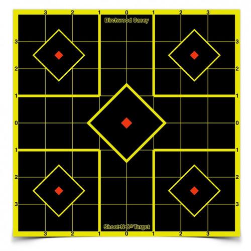 "Shoot-N-C 8"" Sight-In Target 6 Sheet Pkg"