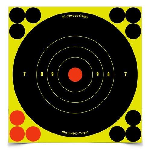 """Shoot-N-C 6"""" Bull'S Eye Target 60 Sheet Pkg"""