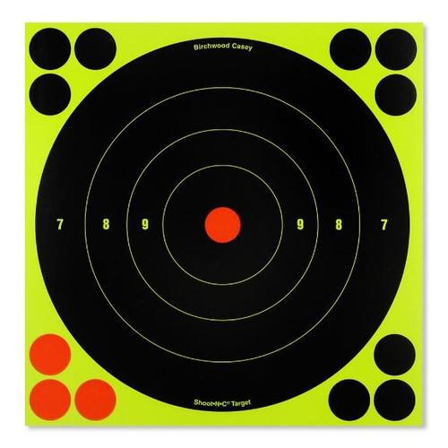 """Shoot-N-C 8"""" Bull'S Eye Target 30 Sheet Pkg"""