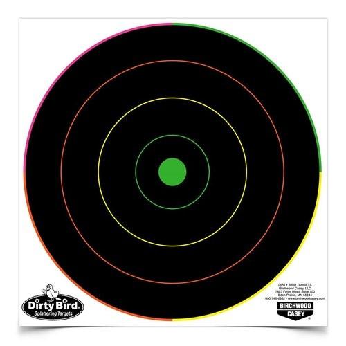"""Dirty Bird 8"""" Multi-Colour Bull'S Eye Target 20/Pkg"""