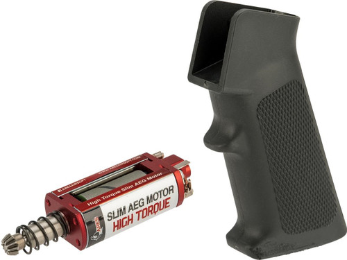 ARES Realistic Series Slim Motor Grip for M4/M16 Series Airsoft AEGs (Package: M4 / Black / High Torque Motor)