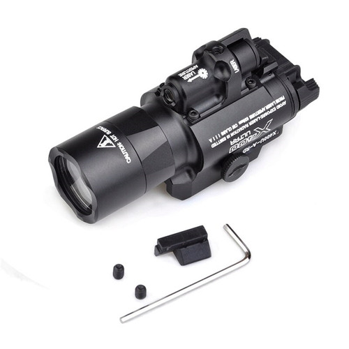 Night Evolution Tactical LED Weapon Light w/ Red Laser (Color: Black)