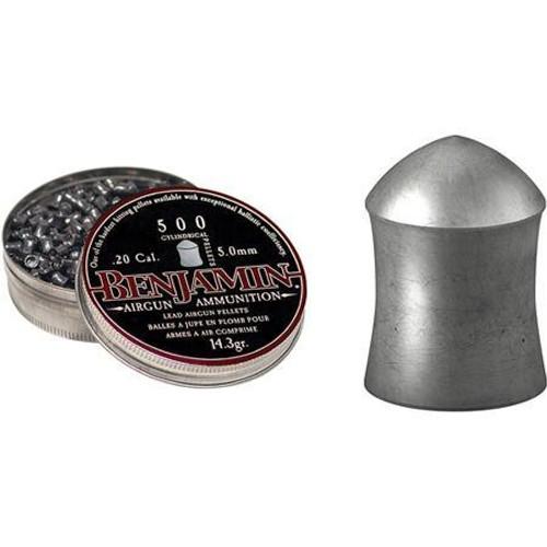 Benjamin 20 Cal 14.3GR Cylindrical Pellets 500 Per/Box