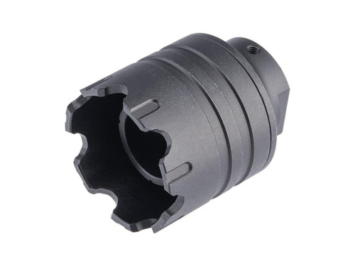 Matrix Aluminum Flash Hider for Airsoft AEG Rifles (Type: 14mm CCW)
