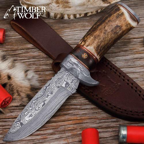 Timber Wolf Whitetail Ridge Skinning Knife w/Sheath
