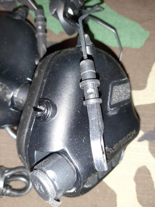 Earmor M32H MOD3 Tactical Communication Hearing Protector for Helmets (Color: Black) - BONEYARD
