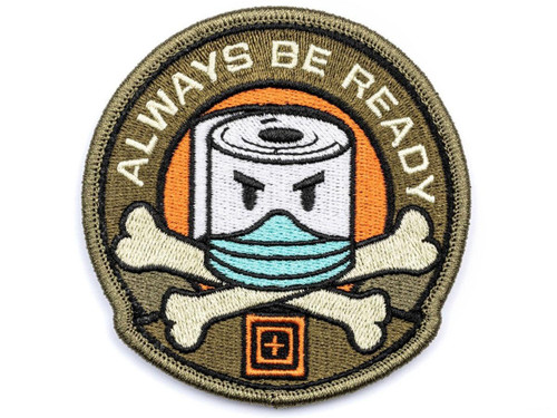 "5.11 Tactical ""Toilet Paper Prepper"" Hook & Loop Embroidered Morale Patch"