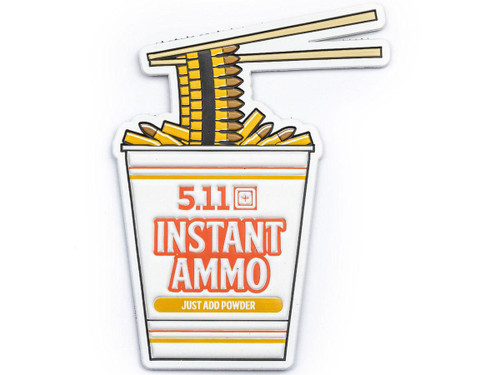 "5.11 Tactical ""Instant Ammo"" Hook & Loop PVC Morale Patch"