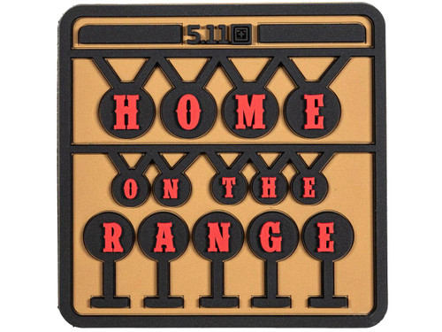 "5.11 Tactical ""Home On The Range"" Hook & Loop PVC Morale Patch"