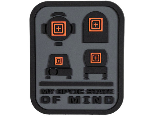 "5.11 Tactical ""OPTIC STATE OF MIND"" Hook & Loop PVC Morale Patch"