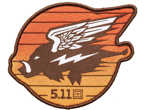 "5.11 Tactical ""Flying Hog"" Embroidered Morale Patch"