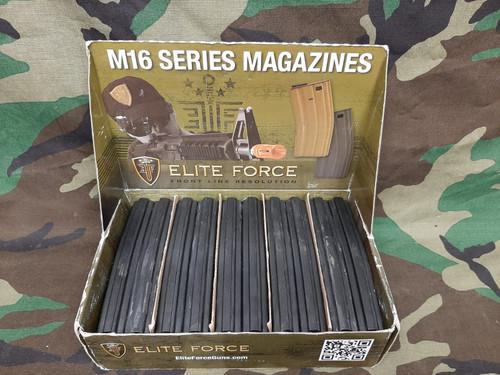 Elite Force 140rd Midcap Magazine for M4 / M16 Series Airsoft AEG Rifles - Black / Set of 10 - USED