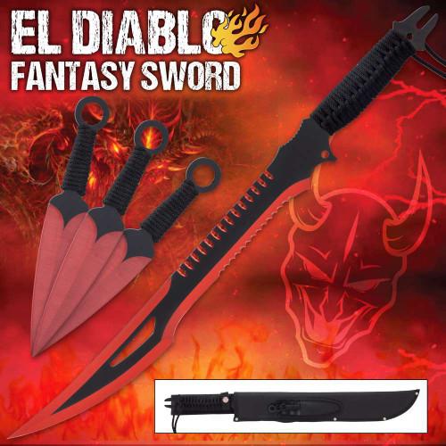 El Diablo Sword And Kunai Set And Sheath