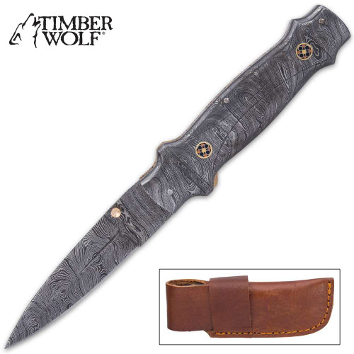 Timber Wolf Castle Guard Pocket Knife And Sheath