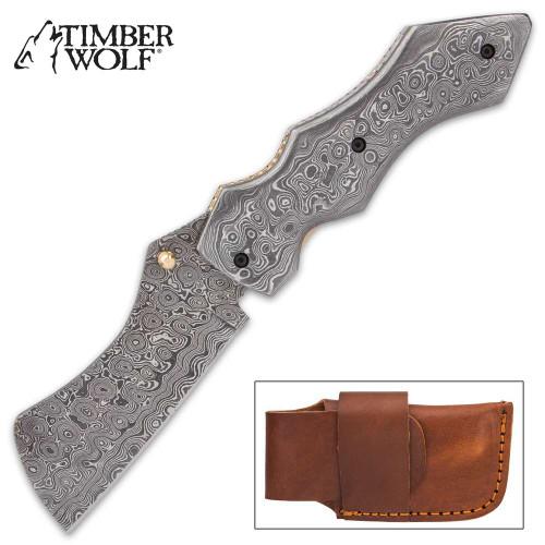 Timber Wolf Knights Watch Pocket Knife And Sheath