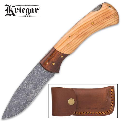 Kriegar Stagecoach Pocket Knife - Damascus