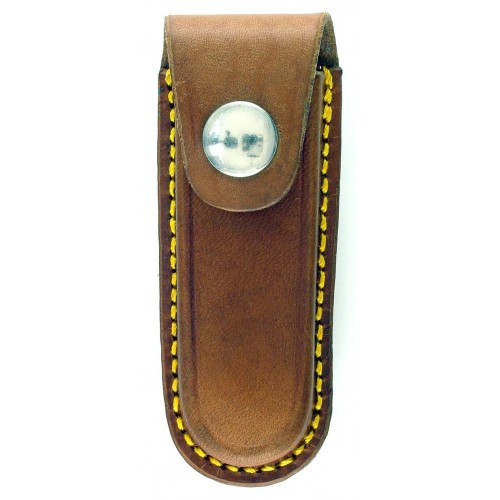 "RUKO NK812-30CL, Leather Sheath for 3"" Closed Folding Knife"