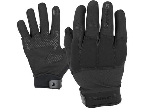 """Valken """"Kilo Tactical"""" Lightweight Padded Gloves (Color: Black)"""