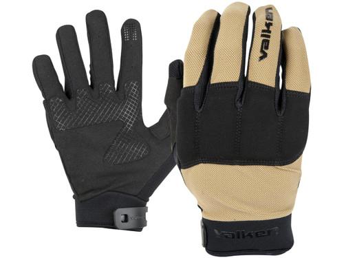 "Valken ""Kilo Tactical"" Lightweight Padded Gloves (Color: Tan)"