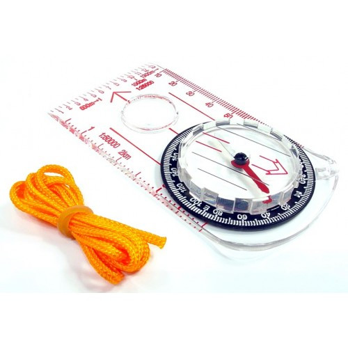 RUKO C-110, Liquid Filled Map Compass with Lanyard Design, BLISTER