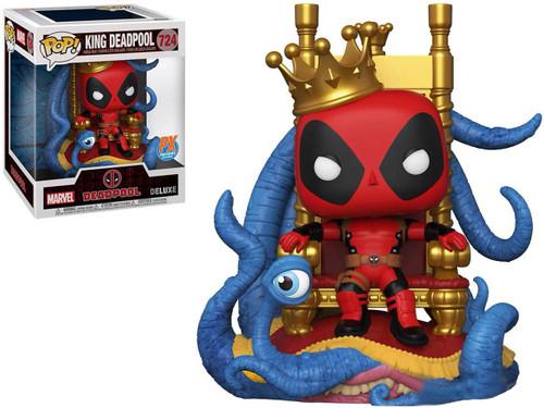 Funko POP! Marvel Heroes Vinyl Figure (Figure: King Deadpool on Throne Deluxe POP!)