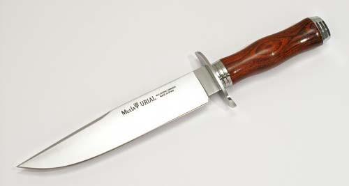 "MUELA URIAL-19CO, X50CrMoV15, 7-5/8"" Fixed Blade Hunting Knife, Cocobolo Pakkawood Handle"