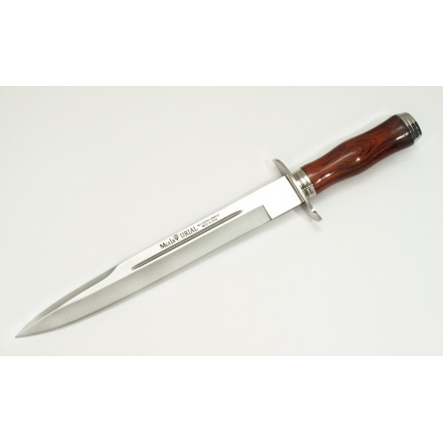 """MUELA URIAL-26CO, X50CrMoV15, 10-3/4"""" Fixed Blade Hunting Knife, Cocobolo Wood Handle"""