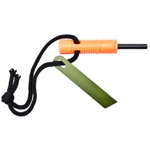 RUKO RUK0115-CS, Fire Starter with Integrated Emergency Whistle, CLAMSHELL