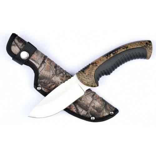 """RUKO RUK0154CA, 440A, 4-1/4"""" Fixed Blade Knife, WX-3D Handle w/Rhino-Hide Insert, boxed"""