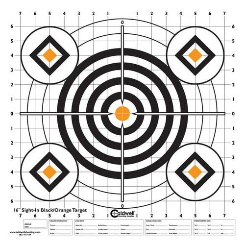 Orange & Black Sight In Paper Target 10/Pkg