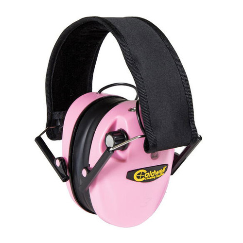 E-Max Low Profile Electronic Pink Hearing Protection