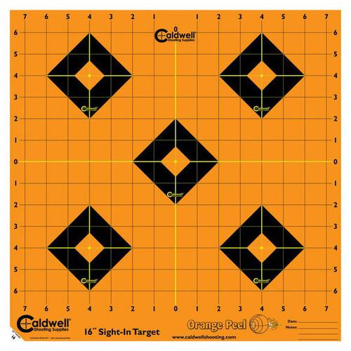 "Orange Peel 16"" Sight In Target 5/Pkg"