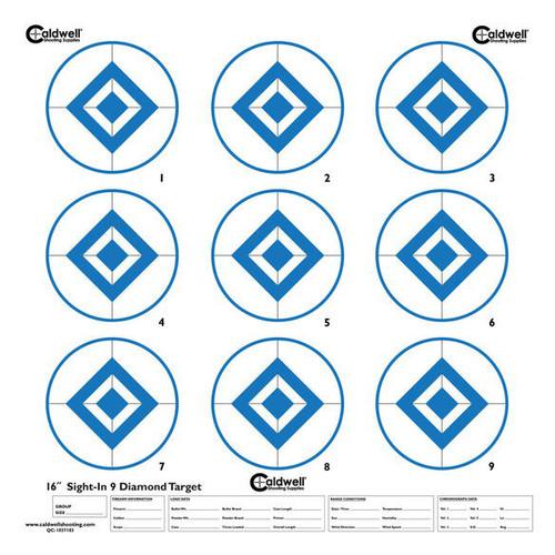 HI Contrast Blue 9 Diamond Sight In Paper Target 10/Pkg