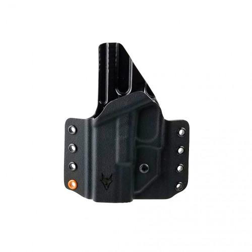"""Gryphon Glock 19/23 Lh Holster Black W/1.5"""" Loops"""