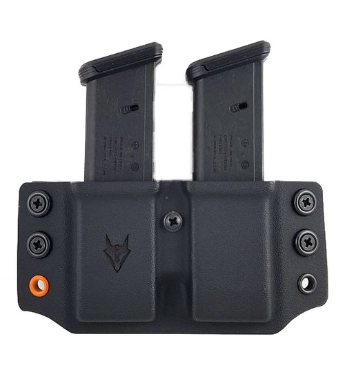 Wyvern Glock 9/40 Pancake Double Mag Pouch Black