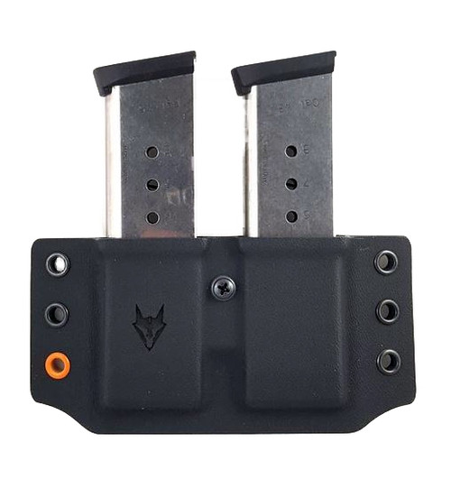 Wyvern 1911 Pancake Double Mag Pouch Black