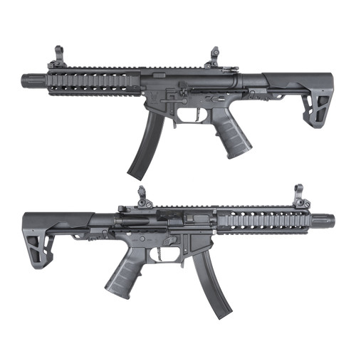 King Arms PDW 9mm SBR Airsoft AEG Rifle (Color: Black / Long)
