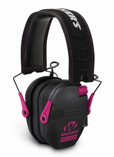 Razor Slim Electronic Muff Black W/Pink