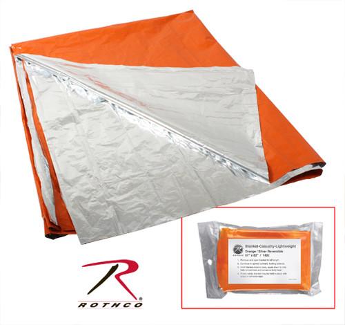 Rothco Polarshield Survival Blanket - Orange/Silver