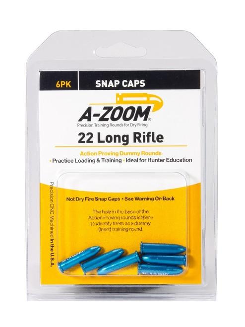 A-Zoom 22LR Action Dummy Rds 6/Pkg