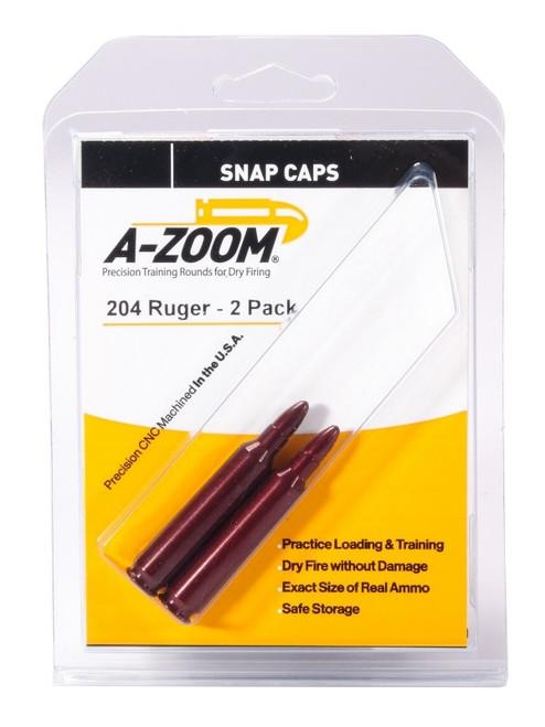 A-Zoom 204 Ruger Snap Caps 2/Pkg