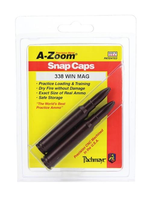 A-Zoom 338 Win Mag Snap Caps 2/Pkg
