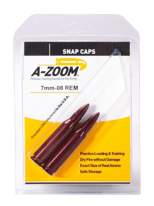 A-Zoom 7mm-08 Rem Snap Caps 2/Pkg